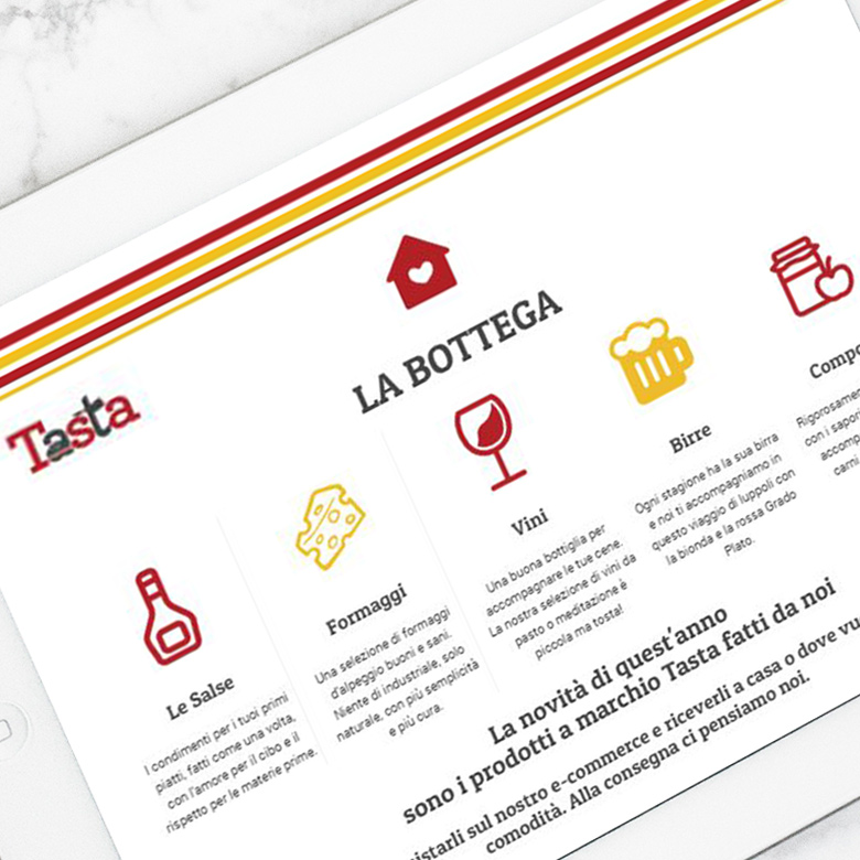 sito web tastafood